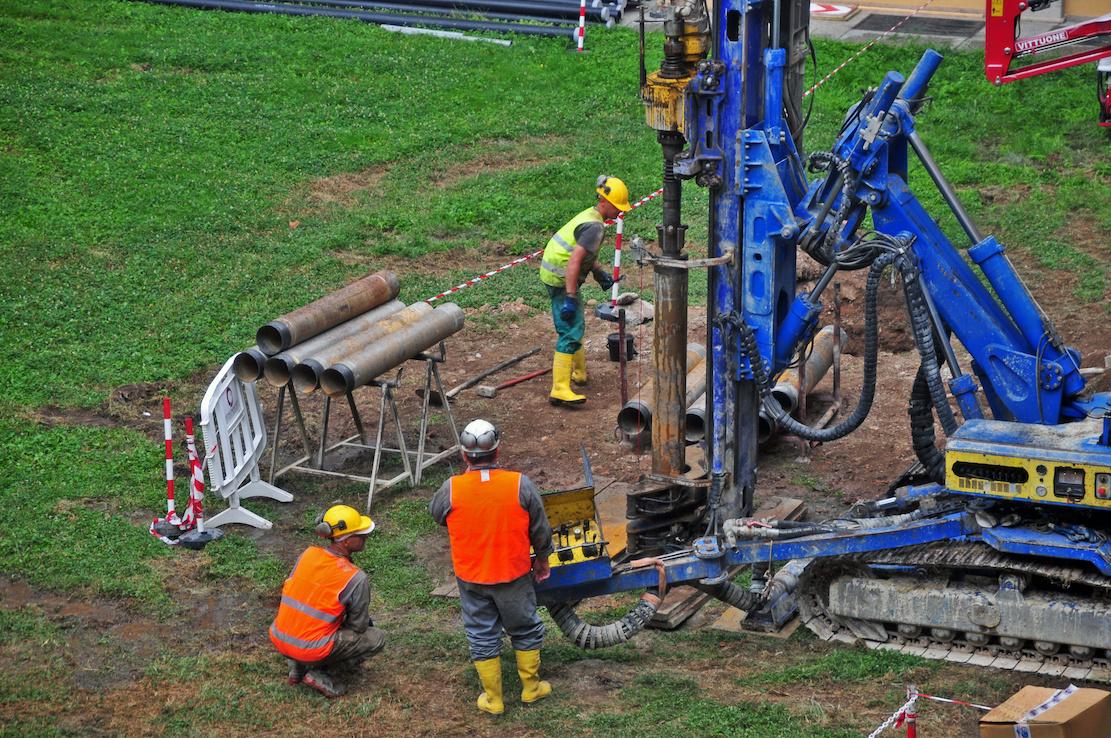 井戸を掘るためのプロセス
